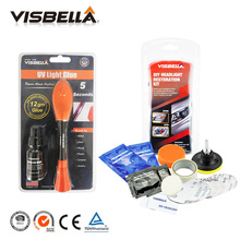 Visbella refill bottle Liquid Plastic Welding Glue 5 Second Fix UV Light Glue quickly repair sealer and Headlamp Restoration Kit(China)
