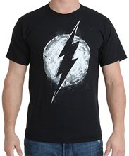 T-Shirt Fashiont Shirt Free Shipping Print T Shirt Men Hot DC Comics Men's Flash Chalk Logo T-shirt