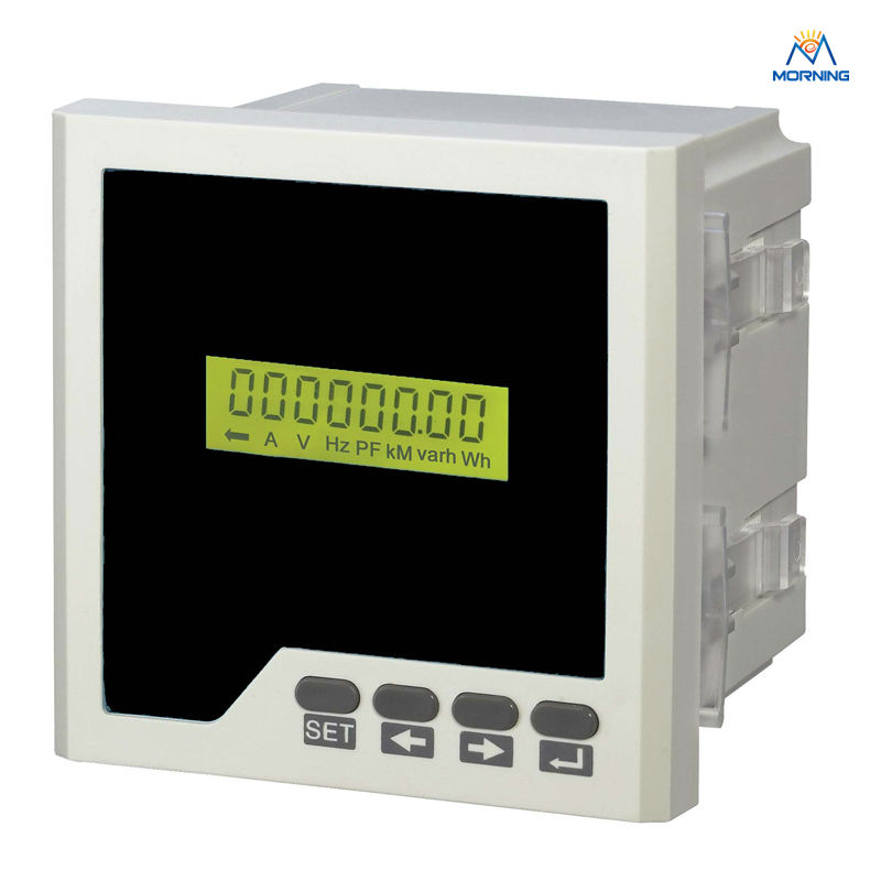 D3Y panel size 96*96 lcd single-phase digital multifunction meter for distribution box<br>