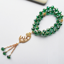 Buy Malachite green crystal Muslim pendant accessories tasbih prayer beads bracelet jewelry,stretch Muslim strand bracelets gift CO.,LTD--) for $1.81 in AliExpress store