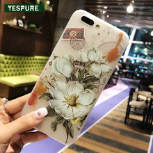 YESPURE Fancy Soft Silicone Handphone for Girls Telephone Protector for Iphone 7plus Matte Phone Bag Case Antigravity Couqe(China)