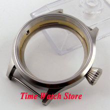 43mm Fit 6497 6498 movement screw back sapphire glass 316L stainless steel Watch Case C03
