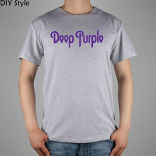 DEEP PURPLE LOGO ROCK N ROLL T-shirt Top Lycra Cotton Men T shirt New Design High Quality Digital Inkjet Printing