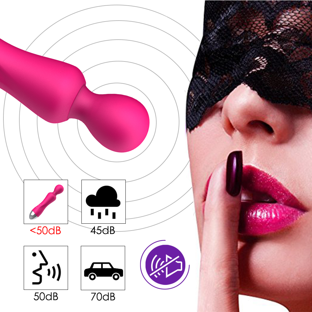 _0812 Speeds G Spot Dildo Vibrators for Women Magic Wand Body Massager Sex Toy For Woman Clitoris Stimulate Female Sex Products