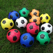 Colorful Football Hand Massager Ball Exercise Soft Elastic Squeeze Stress Reliever Ball Massage Tool Wholesale Random color(China)