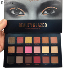 Beauty glazed Brand 18 Colors Eyeshadow Palette Matte Glitter smoky Foiled Eye Shadow Blush highlighter bronzer Makeup Set
