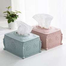 European Style Plastic Paper Towel Box Creative Napkins Storage Case Tissue Holder Home Furnishing Box