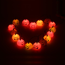 2016 New 16PCS Pumpkin Lamp Wonderful Jack-O-Lantern Lights  Led String Light Decorated Production for Halloween