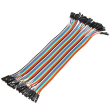 Electrical Durable Cables 40pcs 20cm 2.54mm 1p-1p Pin Female to Female Color Breadboard Cable Jump Wire Jumper For Arduino New(China)