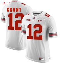 Nike 2017 Ohio State Eli Apple 13-Scarlet Can Customized Any Name Any Logo Limited Boxing Jersey Doran Grant 12-gray(China)