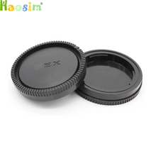 Buy 10 Pair / lot camera Body cap + Rear Lens Cap NEX-6 NEX-7 NEX5R NEX3E DSLR tracking number for $8.91 in AliExpress store
