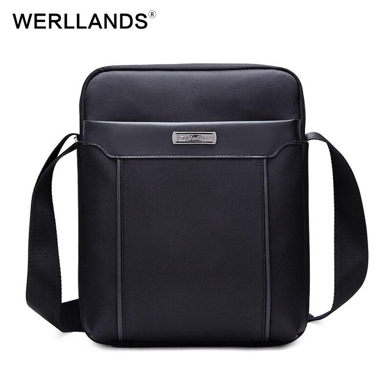 WERLLANDS Waterproof Messenger Bag Oxford Mens Bag High Quality Luxury Bag Adjustable Strap Cross Body Bag Men Laptop Briefcase<br>