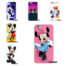 For Sony Xperia Z Z1 Z2 Z3 Z5 compact M2 M4 M5 E3 T3 XA Aqua Minnie Mickey Mouse Cartoon couple kissing Silicone Case
