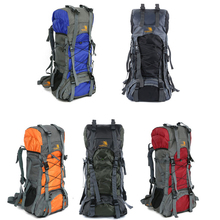 Popular Style Waterproof Outdoor Sport Hiking Camping Travel Backpack Bag 60L 5color choose Black,Blue,Green,Orange,Red