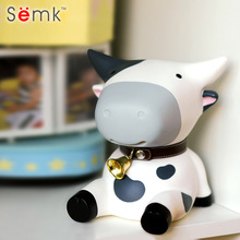 Semk Anime Figure Cattle Doll Cute Dairy Cow Toys Vinyl Money Box Fun Dolls Best Gifts for Kids With Paper Box Gift Packing(China)