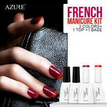 2016 Spring French color gel sparkle French manicure purple UV gel polish & red nail gel  base top coat French style 4 pcs/lot