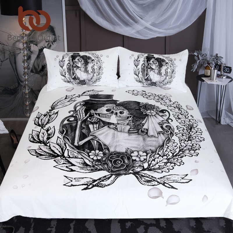 ... queen свадебное платье пододеяльник пары Винтаж Готический домашний  текстиль Цветочные Лучшие постельный комплект на Aliexpress.com  af399a963c8cb