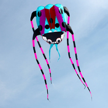 flying windsock lalarge dybird Weifang ladyfly beautiful ladybug single line kites soft kite wind tunnel kids beach cartoons fun