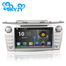 1024*600 Auto Car DVD Player for Toyota Camry 2007-2010 GPS Android 6.0.1 Quad Core 8 Inch Silver Color 2 Din 2017 New Sales(China)