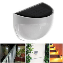 Waterproof 6 LED Solar Power Light Sensor Wall Light Outdoor Garden Fence Lamp(China)