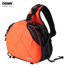 CADEN Waterproof Sling Shoulder Cross Camera Bags Digital Camera Case Soft Men Women Shockproof Camera Messenger Bag For Canon