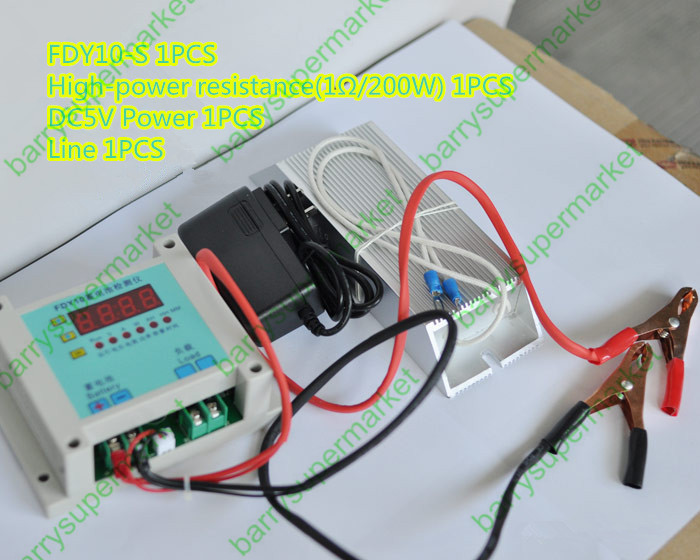 1V-20V 0.1A-10A Battery Capacity Tester Discharger LCD Display Time Voltage Current Power AH Multimeter FDY10<br><br>Aliexpress