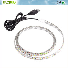 50/100/200cm USB Led Strip Light 5V 3528 Waterproof Flexible Laptop Computer Cabinet LCD Monitor Mon Tablet TV Backlight Strip(China)