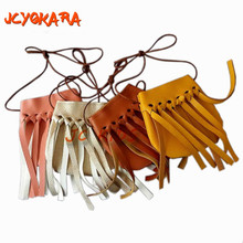 JCYOKARA JC KIDS Fashion Baby Girls Coin Purses Handmade Kids Handbags Girl Tassel Bag Children Accessories girls tassel Purses(China)