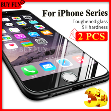 2/3 Pcs For iPhone 7 Plus 6 6 Plus Tempered Glass For Apple iPhone 6 Plus 6s 5 5s 7 Glass Screen Protector Case Protective Film(China)