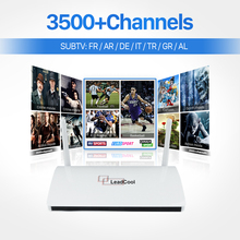 Leadcool Tv Box Android HD European Arabic Tv Box with 3500+ Russia USA Brazil Italy Iptv Subsription Set Top Box Media Player