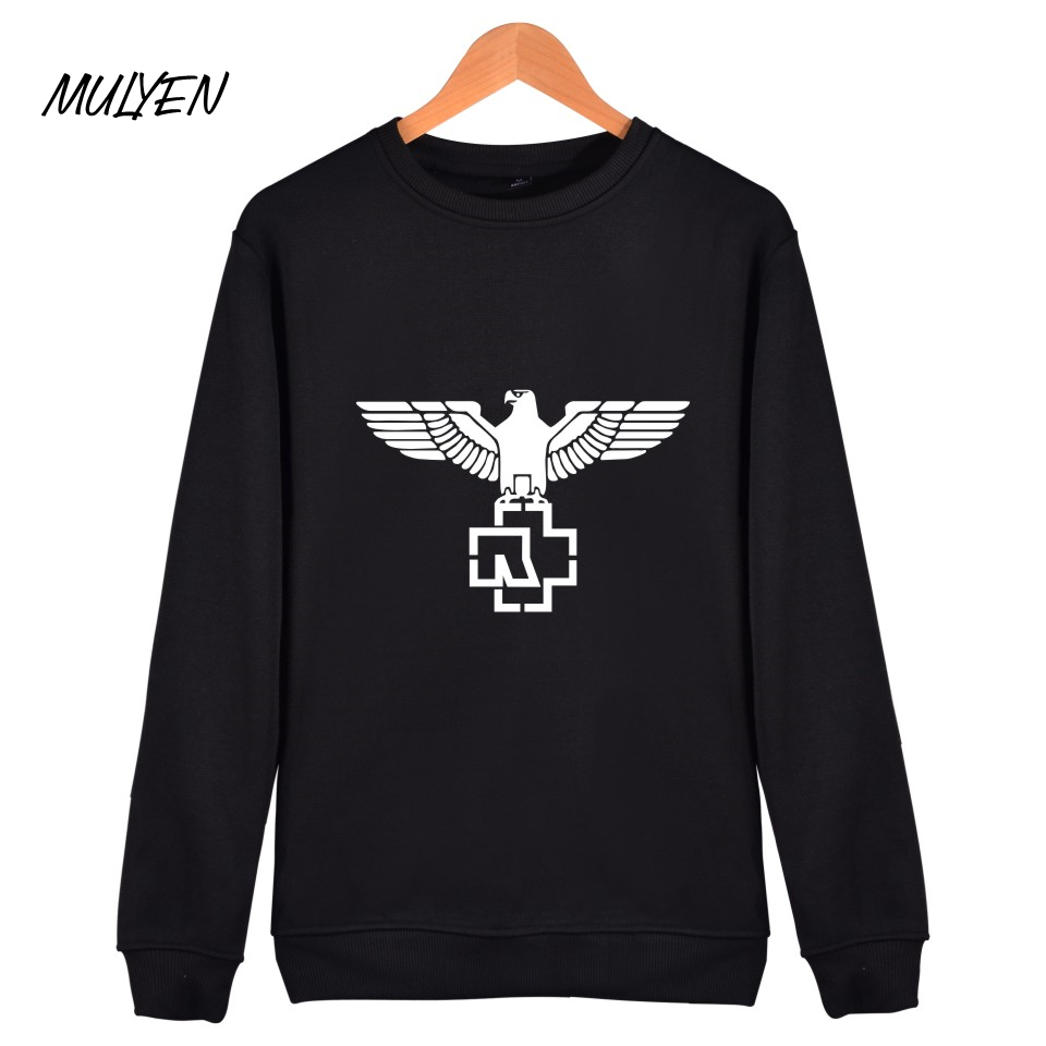 MULYEN New Arrival European Rock Style Men's Sweatshirts Hoodies Autumn Winter Fleece Rammstein Rock Heavy Metal Band Hoodie Men(China)