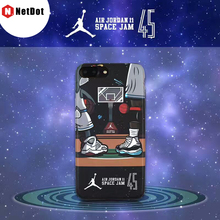 NetDot For iPhone 7 6s 8 Coque Limited Edition Jordan Shoes Air Jordan 11 Phone Back Shell For iPhone 7 Plus 8 Plus Para Capinha(China)