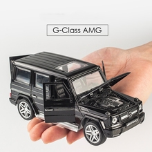 G65 AMG Diecast Metal Car Toys 1:32 Scale Simulation Alloy Cars Pull Back Acousto-optic Auto Model Collection Cars juguete(China)