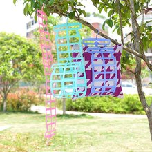 High Quality Portable Multifunctional Drying Racks Hangers Plastic Clothes Line For Pillow Doll