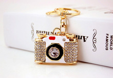 wholesale Creative fashion exquisite gift camera key chain hot style new boyfriend's birthday gift(China)