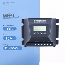 Fangpusun MPPT100/15D 15A MPPT Solar Charge Controller 12V/24V Auto 100V Solar Panel Battery Charge Regulator with LCD Display