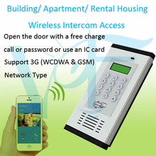 Wireless building GSM Intercom for office hotel apartment  dial to open gate opener System by mobile phone