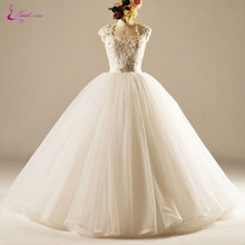Waulizane Charming Organza Square Collar Princess Wedding Dress Delicate Beaded Pearls Appliques Lace Up Ball Gown Bride Dresses