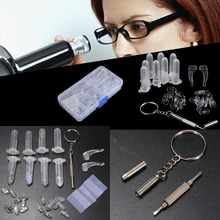 Eyeglass Nose Pad Optical watch Screwdriver Repair Screws Nut Tool Assorted Kit Accessories Box Sunglasses Eyewear(China)