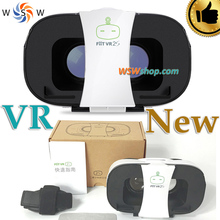 New VR Box Fiit VR 2S 3D Glasses Virtual Reality Glasses Video Movie Theater Glasses Google Cardboard VR For 4-6.5' Smart Phone