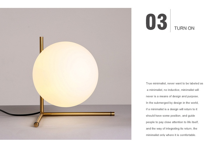 Modern LED Table Lamp Nordic Design Glass Ball Bedside Table Lamps For Bedroom 8