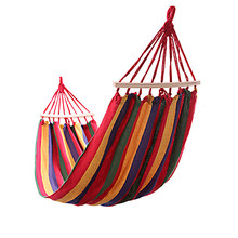 outdoor hammock swing new wood stick canvas double indoor thickening widened Single rede de dormir