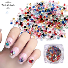 1 Box Diamond Design Colorful 3D Manicure Adhesives Decorations Flame Glass Stones Rhinestones For Nails Art Tips(China)