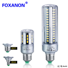 Foxanon 25W 20W 15W 9W 7W 5W LED Lamp E27 E14 110V 220V Corn Bulb Full Aluminum Cooling No Flicker SMD5736 LED Lamps Light(China)