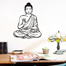 Shakya Muni Buddha Buddhism Religion Wall Sticker For Living Room Bedroom Home Decor Wall Decals Home Decoration Accessories
