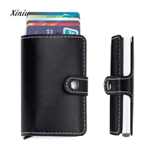 Buy Women Men ID Credit Card Protector Leather Wallet Card Holder Package Box Unisex Business Card Holder High Hasp Bag for $5.25 in AliExpress store