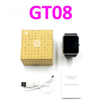 10pcs/lot GT08 bluetooth smart watch SIM TF slot GSM watch phone Christmas gift wholesale price for regular customers DHL free