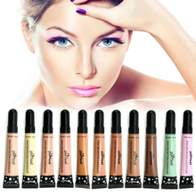 New Silky 11 Colors Liquid Concealer Hide Blemish Dark Eye Circle Cover Flawless Finish Coutour Kit Women Beauty