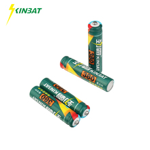 KINBAT 4pcs 380mAh 1.2V AAA Ni-CD Rechargeable Battery AAA Pre-Charged NICD Batteries Pack For Toys Microphone Remote Controls(China)