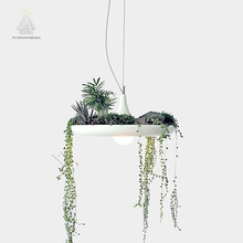 Hanging Sky Garden Droplight Balcony Hall Pot Plant Lamp Pots Potted Nordic Tom Creative White Without Plants and Flowers lamp